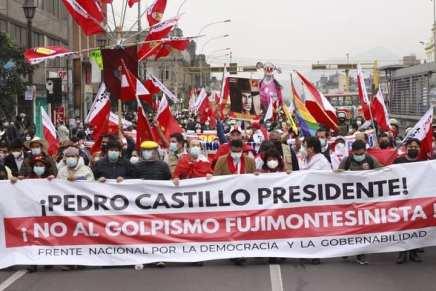 Perù: ufficializzare subito la vittoria di Pedro Castillo contro il golpe delladestra