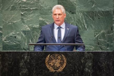 Il discorso del presidente Miguel Díaz-Canel all'Assemblea generaledell'ONU